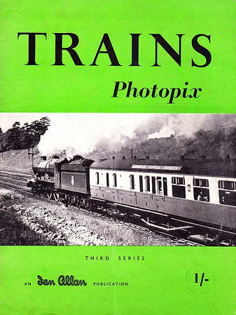 Trains Photopix, Third Series, published March 1953, 16pp 1/-, code: 291/143/100/353, softback. Cover photo of an unidentified ex-GWR 'King' Class 4-6-0 on an up working of 'The Cornish Riviera Express'. Note the drop in price from 1/6 to 1/-.