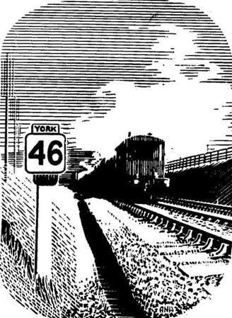 """York 46 Milepost""."