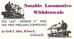 'Notable Locomotive Withdrawls' column header from Trains Illustrated No.11 from October 1948. Both loco drawings signed ANW.
