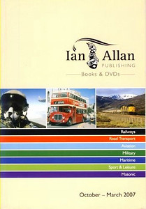 2007 Ian Allan booklist catalogue, issued for October-March 2007.