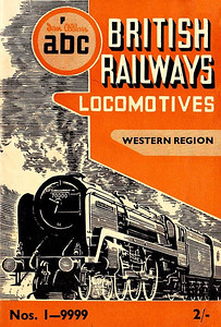 "Summer 1951 P1 - British Railways Locomotives - Western Region, published April 1951, 57pp 2/-, code: 183/31/300/451. The same cover drawing by A N Wolstenholme of BR Standard Class 7MT (original classification, later 7P6F) Pacific 70000 ""Britannia"" appeared on all Summer 1951 editions including the combined volume."