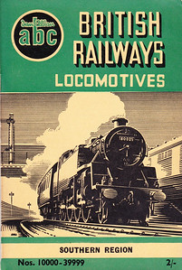 Winter 1952 P2 - British Railways Locomotives - Southern Region + Diesel & Electric, published July 1952, 56pp 2/-, no code. The same cover drawing by A N Wolstenholme of BR Standard Class 4MT 2-6-4T 80025 appeared on all Winter 1952 editions including the combined volume.