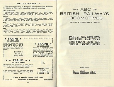 Winter 1950 Part 2 B.R. Non-Steam & Southern Region Steam Locomotives.