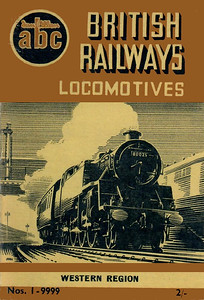 Winter 1952 P1 - British Railways Locomotives - Western Region, published August 1952, 57pp 2/-, no code. The same cover drawing by A N Wolstenholme of BR Standard Class 4MT 2-6-4T 80025 appeared on all Winter 1952 editions including the combined volume.