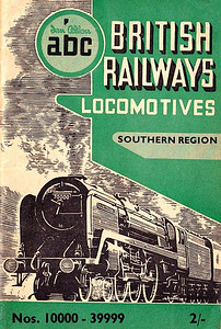 "Summer 1951 P2 - British Railways Locomotives - Southern Region + Diesel & Electric + Locoshed, published May 1951, 64pp 2/-, code: 161/1/170/551. As there was no Winter/Spring SR edition, the Locoshed section was included in this book. The same cover drawing by A N Wolstenholme of BR Standard Class 7MT (original classification, later 7P6F) Pacific 70000 ""Britannia"" appeared on all Summer 1951 editions including the combined volume."