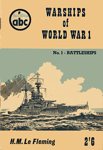 "1959 Warships of World War I, No.1 - Battleships, by H M Le Fleming, published May 1959, 64pp 2/6, code: 898/528/100/559. Cover drawing of HMS ""Revenge"" by B Haresnape."