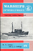 """1963 Warships of World War II, Part Five - Auxiliary Support Vessels, by H T Lenton & J J Colledge, published May 1963, 72pp 3/6, code: SWWWII-5/1215/16/125/563. Cover photo of HMS """"Reward""""."""