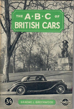 1947 British Cars, 3rd edition, by Graeme L Greenwood, published 1947, 102pp 3/6, no code.