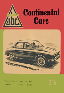 1958 Continental Cars, 4th edition, by J Coronial, published April 1958, 64pp 2/6, code: 748/486/125/458.