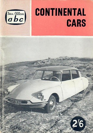 1960 Continental Cars, 5th edition, by M J Wilson, published June 1960, 64pp 2/6, code: 627/1031/100/660.