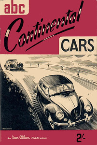 1953 Continental Cars, 1st edition, by John G Want, published July 1953, 56pp 2/-, code: 323/172/750/753.