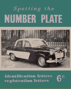 1961 Spotting The Number Plate, 14th edition, 6d, no code. A variation with a green cover instead of red.