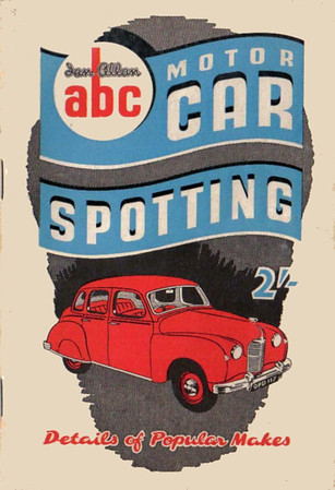 1951 Motor Car Spotting, 3rd edition, by Graeme L Greenwood, published April 1951, 65pp 2/-, code: 185/30/125/451.