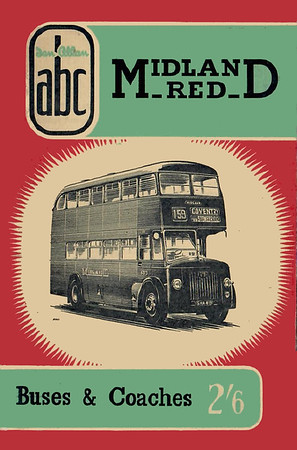 1957 (British Bus Fleets No.15) Midland Red Buses & Coaches, 5th edition (with map), published May 1957, 64pp 2/6, code: 583/411/100/557.