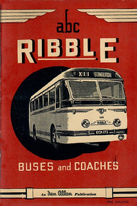 1952 Ribble Buses & Coaches, 1st edition (with map), published May 1952, 64pp 2/-, code: 232/87/100/552.