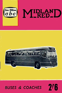 1961 (British Bus Fleets No.15) Midland Red Buses & Coaches, 7th edition (with map), published April 1961, 64pp 2/6, code: 1065/663/150/361.