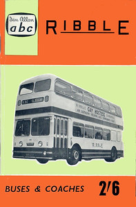 1961 (British Bus Fleets No.16) Ribble Buses & Coaches, 6th edition (with map), published March 1961, 64pp 2/6, code: BR/1182/780/150/662.