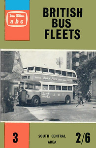 1961 British Bus Fleets No.3 - South Central Area, 2nd edition, by Prince J Marshall & Basil C Kennedy, published March 1961, 73pp 2/6, code: 1069/670/125/361. The following bus fleets are detailed in this edition:- Bournemouth Corporation; R Chisnell & Sons; Hants & Dorset; Jersey Motor Transport; City of Oxford; Provincial (Gosport & Fareham); Reading Corp; Southampton Corp; Southern Vectis; Swindon Corp; Thames Valley; Wilts & Dorset.