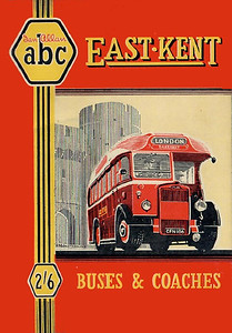 1949 East Kent Buses & Coaches, 1st edition, by S L Poole, published April 1949, 64pp 2/6, code: 62/259/50/449.