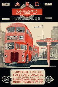 1948 Midland Red Buses & Coaches, 1st edition (with map), published 1948, 88pp 2/6, no code. Reissued in 1998 (see Section 112).