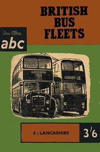 1960 British Bus Fleets No.6 - Lancashire, 1st edition, by P J Marshall, published May 1960, 96pp 3/6, code: 991/597/125/560. The Corporation/Transport co. bus fleets detailed in this edition are:- Accrington; Barrow in Furness; Blackburn; Blackpool; Bolton; Burnley, Colne & Nelson JTC; Bury; Haslingden; Lancashire United; Lancaster; Leigh; Liverpool; Lytham St Annes; Manchester; Oldham; Preston; Ramsbottom; Rawtenstall; Rochdale; St Helens; Salford; Southport; Warrington; Widnes; Wigan.