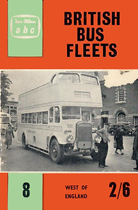 1961 British Bus Fleets No.8 - West of England, 1st edition, by Prince J Marshall & Basil C Kennedy, published June 1961, 48pp 2/6, code: 1102/695/125/661. This book appears to have the same code as BBF No.7 Midlands ABC. The following bus fleets are detailed in this edition:- Bere Regis & District; Devon General; Exeter City Transport; Plymouth City Transport; Royal Blue; Southern National; Western National.