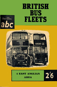 1959 British Bus Fleets No.4 - East Anglian Area, 1st edition, by Basil C Kennedy & P J Marshall, published March 1959, 72pp 2/6, code: 911/542/100/359. The following bus fleets are detailed in this edition:- Birch Bros Ltd; Colchester Corporation Transport; Eastern Counties; Eastern National; Great Yarmouth Corp; Ipswich Corp; Lowestoft Corp; Luton Corp; Northampton Corp; Southend-on-Sea Corp; United Counties.