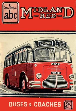 1952 Midland Red Buses & Coaches, 3rd edition (with map), published 1952, 64pp 2/6, no code.