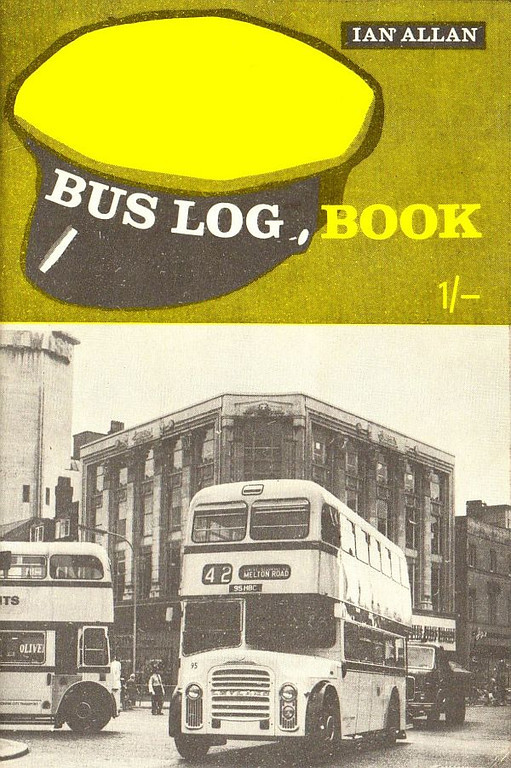 c.1963 Bus Log Book, 1/-.