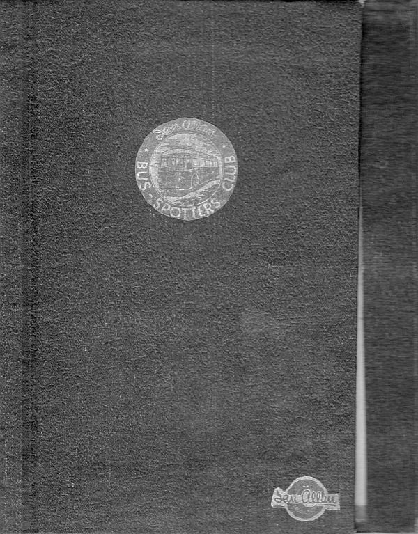 Bus-Spotters Club book cover, probably early 1950s.