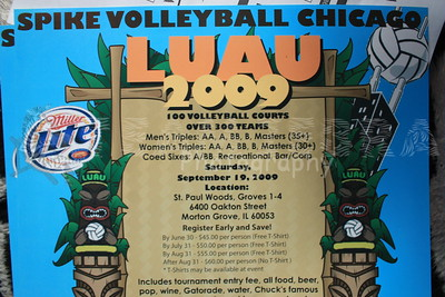 2009 Spike Volleyball Chicago LUAU