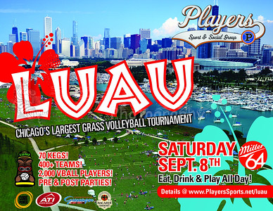 THE LUAU CHICAGOLAND'S LARGEST GRASS VOLLEYBALL TOURNAMENT