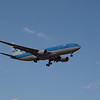 KLM Flt 677 arriving on RWY 16, May 3rd 2009 - First KLM flight to YYC after 12 years<br /> Airbus A330 MSN 770