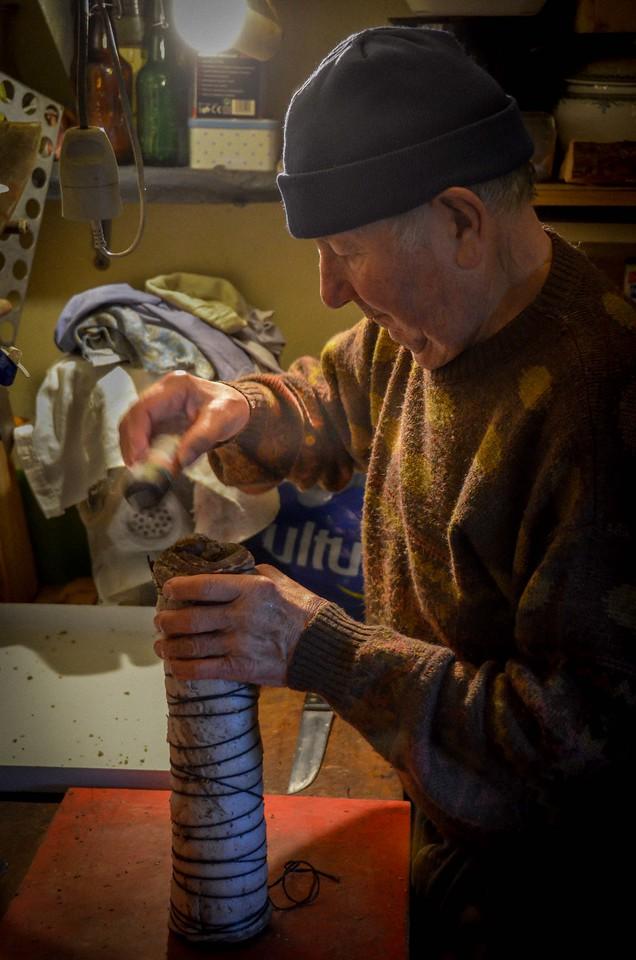 Henri making porchetta