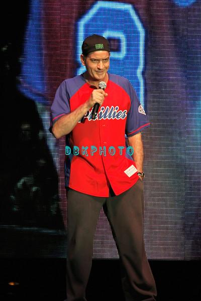 ATLANTIC CITY, NJ - APRIL 16:  Charlie Sheen performs at Trump Taj Mahal on April 16, 2011 in Atlantic City, New Jersey.