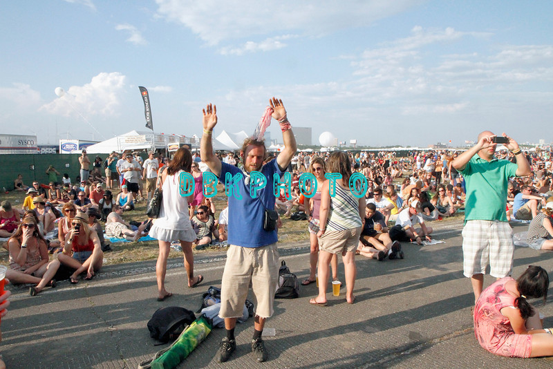 ATLANTIC CITY, NJ - JUNE 24:  A fan appears in a trance as he listens to the music of Ray Lamontagne who performs during the Dave Matthews Band Caravan at Bader Field on June 24, 2011 in Atlantic City, New Jersey.