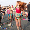 ATLANTIC CITY, NJ - JUNE 24: A fan twirls her Hula_Hoop in time to the music of Ray Lamontagne who performs during the Dave Matthews Band Caravan at Bader Field on June 24, 2011 in Atlantic City, New Jersey.