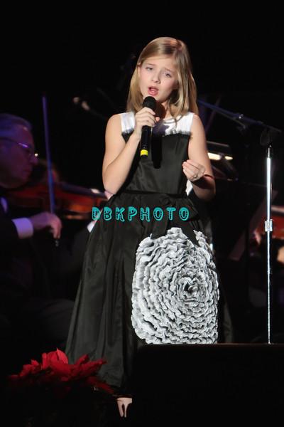 ATLANTIC CITY, NJ - DECEMBER 17:  Jackie Evancho performs at the Trump Taj Mahal on December 17, 2011 in Atlantic City, New Jersey.