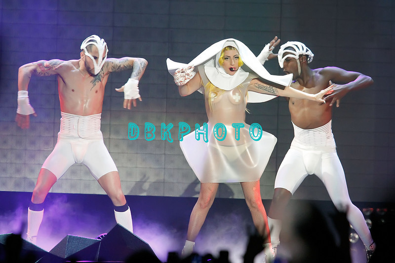 ATLANTIC CITY, NJ - FEBRUARY 19: Lady Gaga performs at Boardwalk Hall Arena on February 19, 2011 in Atlantic City, New Jersey.