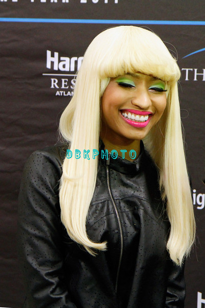 ATLANTIC CITY, NJ - MARCH 26:  Nikki Minaj visits the Pool After Dark at Harrah's Resort on March 26, 2011 in Atlantic City, New Jersey.