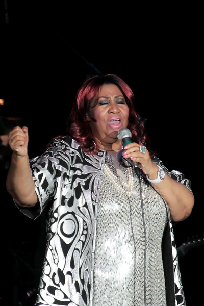 ATLANTIC CITY, NJ - OCTOBER 06:  Aretha Franklin performs in concert at the Etess Arena on October 6, 2012 in Atlantic City, New Jersey.