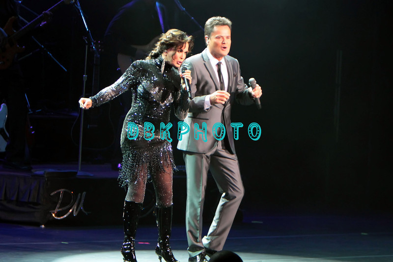 ATLANTIC CITY, NJ - JULY 31: Marie and Donny Osmond  performs at Caesars Circus Maximus Theater on July 31, 2012 in Atlantic City, New Jersey.