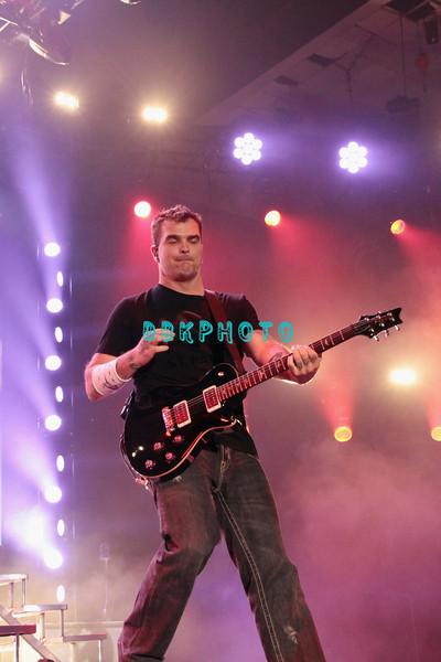 ATLANTIC CITY, NJ - MAY 26: Chris Henderson of 3 Doors Down performs at the Trump Taj Mahal on May 26, 2012 in Atlantic City, New Jersey.