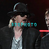 "ATLANTIC CITY, NJ - FEBRUARY 24:  Axl Rose and Tommy Stinson of Guns N"" Roses performs at the House of Blues on February 24, 2012 in Atlantic City, New Jersey."