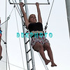 ATLANTIC CITY, NJ - JULY 06:  Jackie Bianchi performs on trapeze at Trump Taj Mahal on July 6, 2012 in Atlantic City, New Jersey.