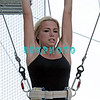 ATLANTIC CITY, NJ - JULY 06:  Jackie Bianchi performs on trapeze at Trump Taj Mahal on July 6, 2012 in Atlantic City, New Jersey.