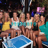 ATLANTIC CITY, NJ - AUGUST 18: Kendra poses with her Close friends. L-R  Angela Perfetto,Valerie Burns, Susan Celek, Julie Dorenbos,  Kendra Wilkinson, Bethany Coffee and Amber Bocco  as she hosts an event at The Pool After Dark at Harrah's Resort on August 18, 2012 in Atlantic City, New Jersey.