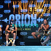 ATLANTIC CITY, NJ - JUNE 22:  James Hetfield, Rob Trujilo,  Kirk Hammett and Lars Ulrich of Metallica takes questions as they attend the 2012 Orion Music + More Festival Press Conference at Bader Field on June 22, 2012 in Atlantic City, New Jersey.