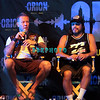 ATLANTIC CITY, NJ - JUNE 22:  James Hetfield, Rob Trujilo,of Metallica takes questions as they attend the 2012 Orion Music + More Festival Press Conference at Bader Field on June 22, 2012 in Atlantic City, New Jersey.