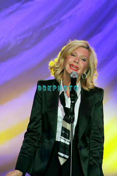 ATLANTIC CITY, NJ - NOVEMBER 17:  Olivia Newton-John performs in concert at Mark G. Etess Arena - Trump Taj Mahal on November 17, 2012 in Atlantic City, New Jersey.